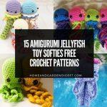 15 Amigurumi Jellyfish Toy Softies Free Crochet Patterns