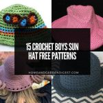 15 Crochet Boys Sun Hat Free Patterns