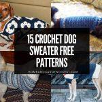 15 Crochet Dog Sweater Free Patterns