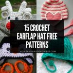 15 Crochet Earflap Hat Free Patterns