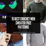 15 Crochet Men Sweater Free Patterns