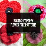 15 Crochet Poppy Flower Free Patterns