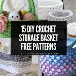 15 DIY Crochet Storage Basket Free Patterns