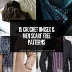 15 Crochet Unisex & Men Scarf Free Patterns
