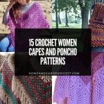 15 Crochet Women Capes and Poncho Patterns