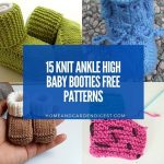15 Knit Ankle High Baby Booties Free Patterns