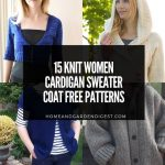 15 Knit Women Cardigan Sweater Coat Free Patterns