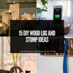 15 DIY Wood Logs and Stumps Ideas
