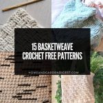 15 Best Basketweave Crochet Free Patterns