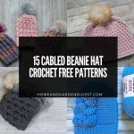 15 Cabled Beanie Hat Crochet Free Patterns