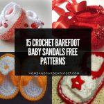 15 Crochet Barefoot Baby Sandals Free Patterns