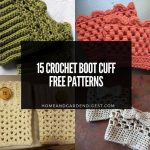 15 Best Crochet Boot Cuff Free Patterns