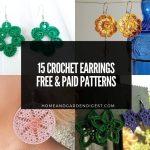 15 Crochet Earrings Free & Paid Patterns
