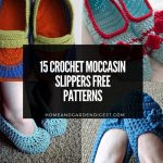 15 Crochet Moccasin Slippers Free Patterns