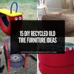 15 DIY Recycled Old Tire Furniture Ideas