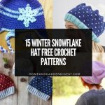 15 Winter Snowflake Hat Free Crochet Patterns